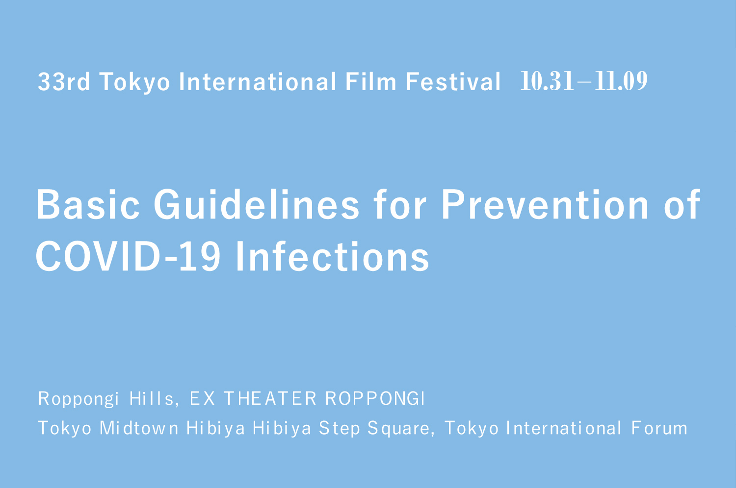Basic Guidelines for Prevention of COVID-19 Infections